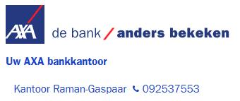 Bankkantoor Axa